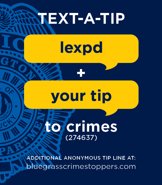 Police Department launches Text-a-Tip service | City of Lexington