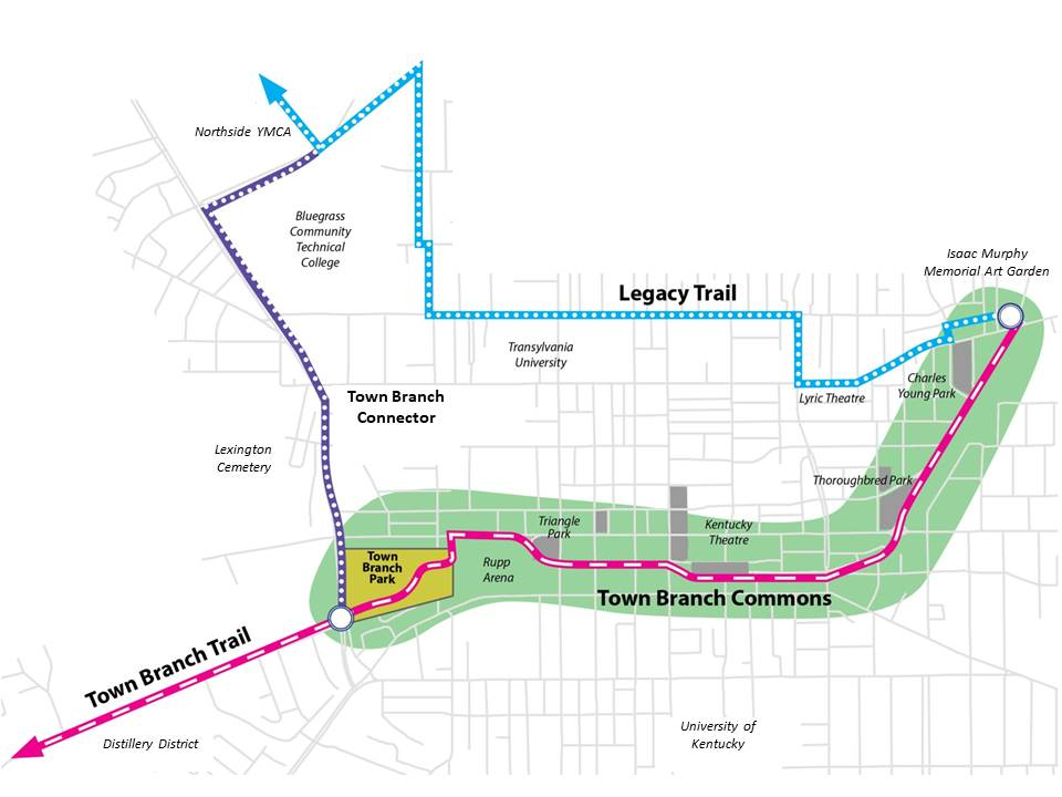 Map: Downtown Trails
