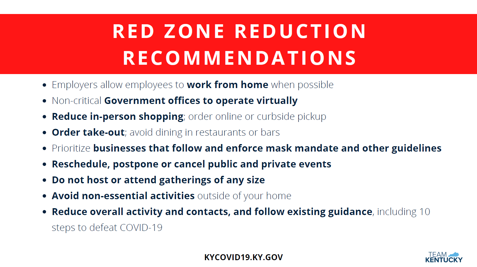 Red Zone Recommendations