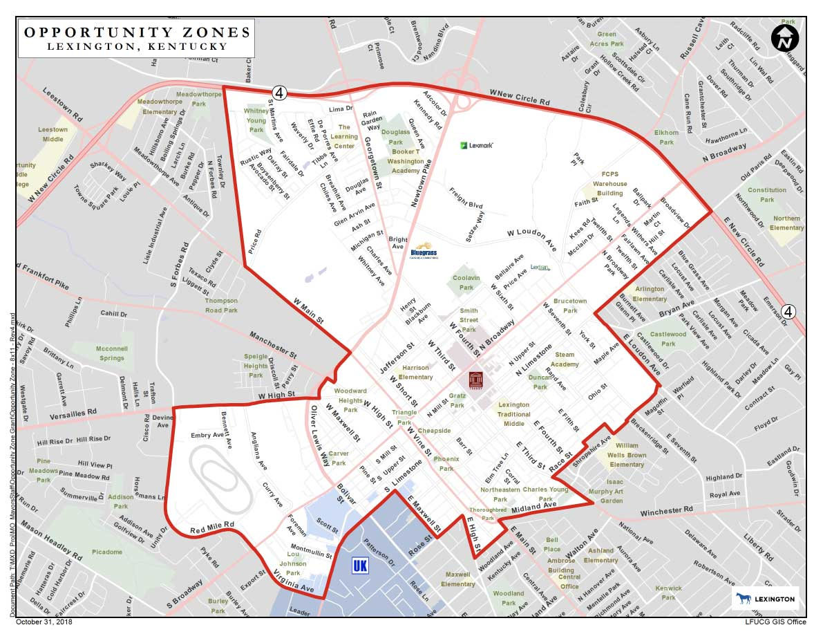Designated Opportunity Zones | City of Lexington
