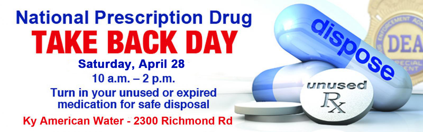 Prescription Drug Disposal City Of Lexington