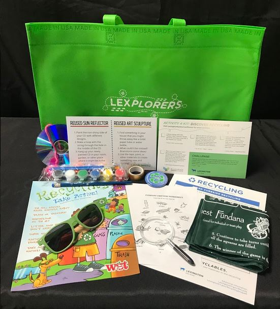 lexplorers bag with colorful childrens activities, coloring sheets