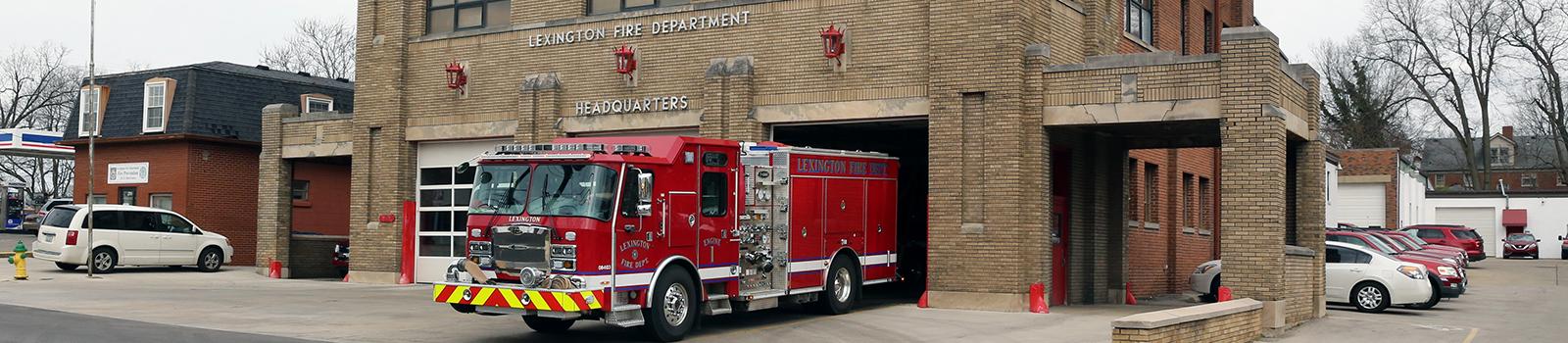 Fire Station locations   City of Lexington