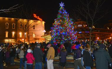 Christmas tree lights up Triangle Park at Luminate Lexington & City seeking three Christmas trees for downtown parks | City of ...