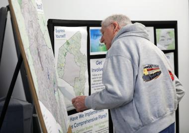 Local resident views map from Imagine Lexington public forum