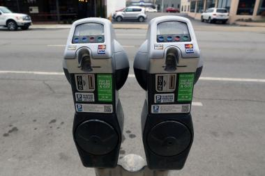 Parking meters on Main Street