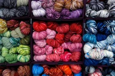 image of yarns of different colors