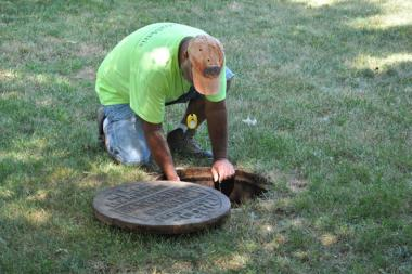 Sewer work