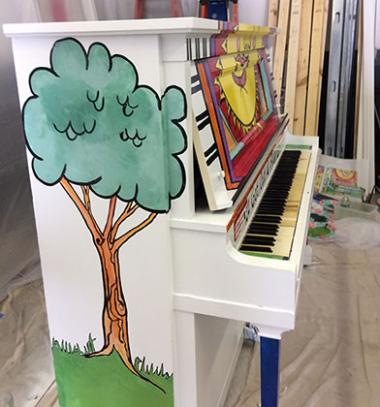 Image of hand-painted piano