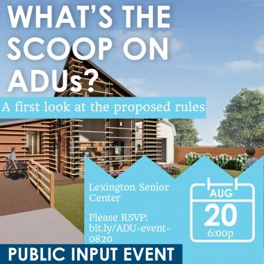 Invite to public event on ADUs
