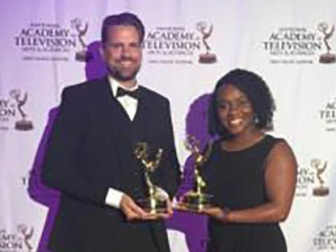 Neil Noah and Sherelle Roberts Pierre received Emmys