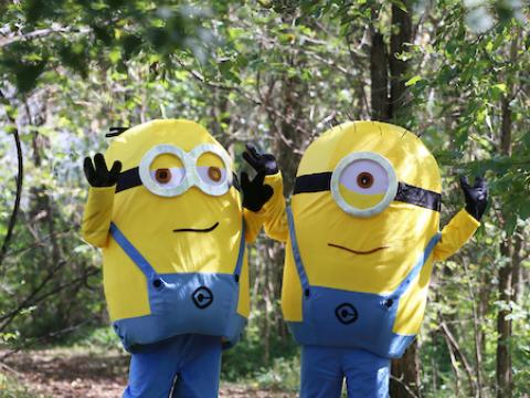 Image of people in minion costumes