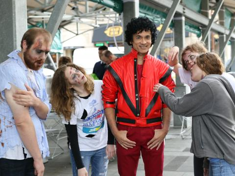Michael Jackson and a few zombies
