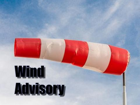 Wind advisory in effect until 7pm
