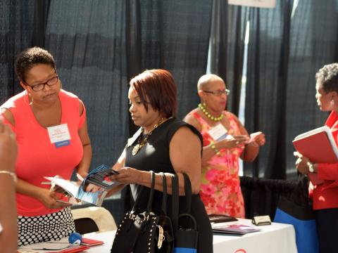 Image of women at Minority Business Expo event
