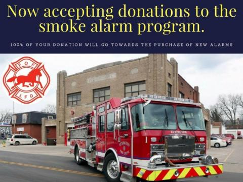 The Lexington Fire Department is now accepting donations to the smoke alarm program.