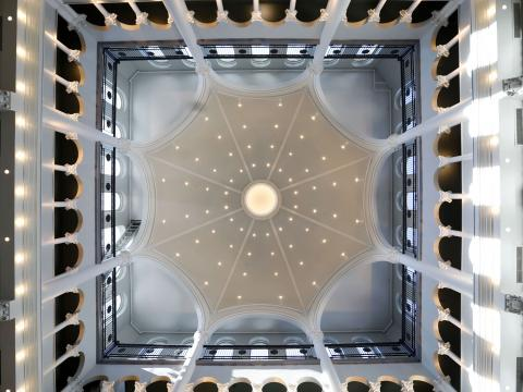 Image of courthouse dome from the inside looking up