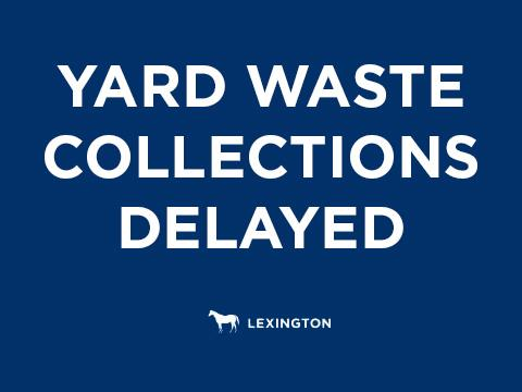Yard Waste collections delayed