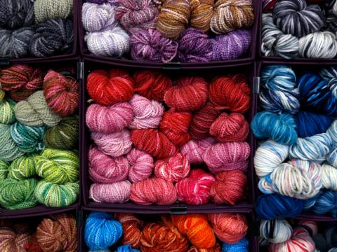 Image of various yarn colors