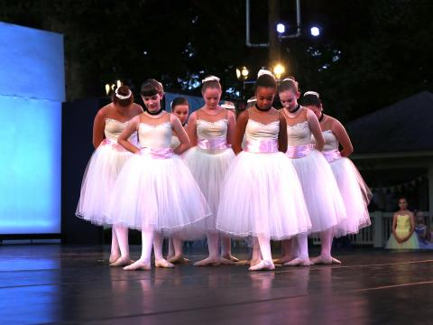 Image of dancers at Ballet Under the Stars