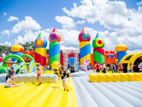 Image of big bounce house