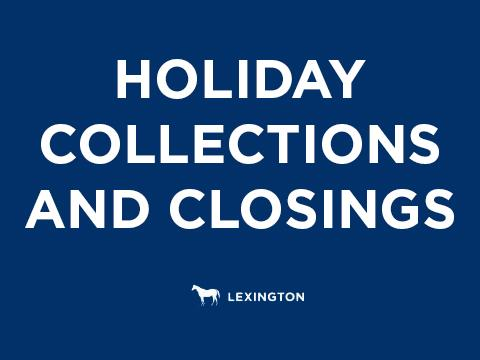 Holiday collections notice