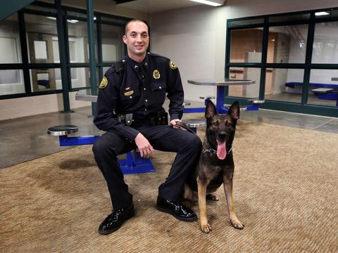 Image of K9 Ozzy and Officer Cody TIngle