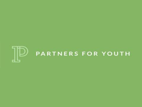 Partners for Youth logo on green background