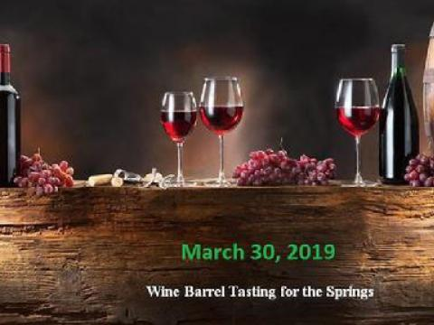 Wine Barrel Tasting for the Springs slide