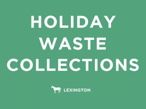 Holiday waste collections text graphic