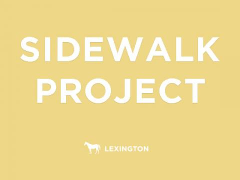 Sidewalk project text graphic