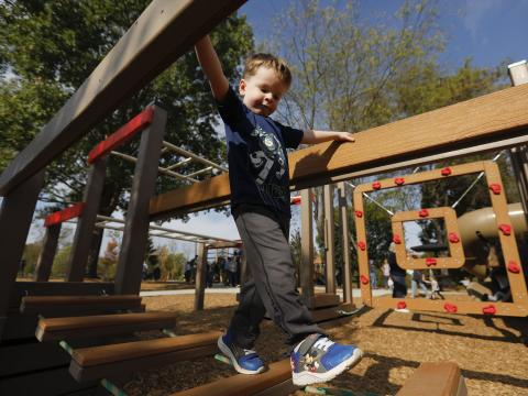 Image of boy playing on Shillito Playground