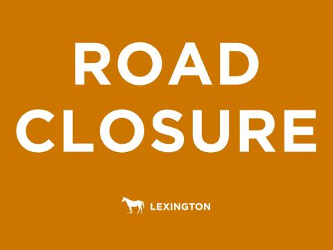 Road closure graphic