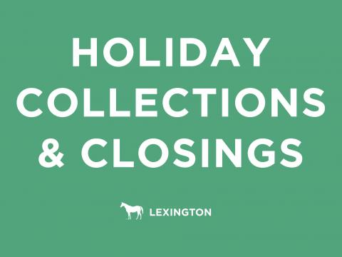 Holiday waste collections and closings