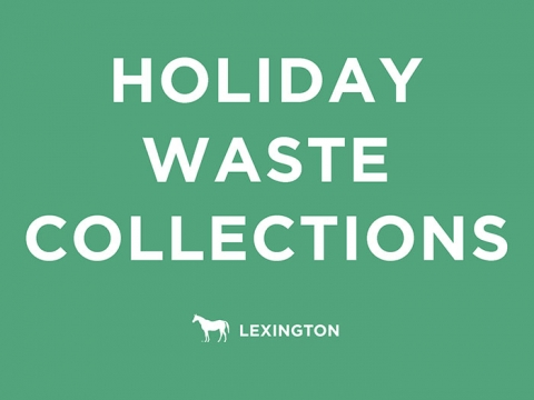 holiday waste collections
