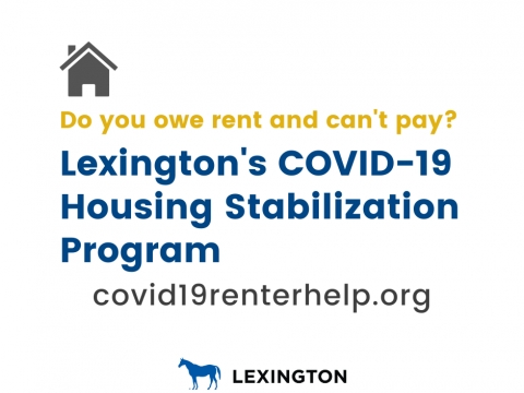 COVID-19 rental assistance graphic.